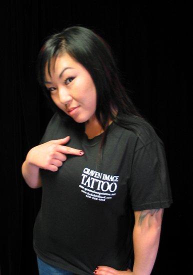 Black Short Sleeve Graven Image Tattoo T-Shirt **LARGE**
