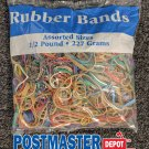 Bazic Rubber Bands 465 Ct. Assorted Colors/Sizes, 1/2 Pound (227 Grams) USA MADE
