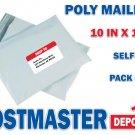 20 Poly Mailers, 10 in x 13 in, Polyair Fastpak Envelope, Polyethylene Bags