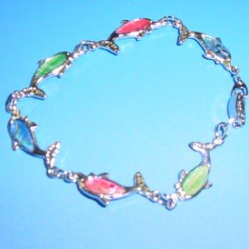 dolphin Paua Shell Bracelet