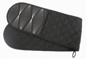 Designer Double Oven Glove (Black) APPROX £10.99 (FREE UK SHIPPING)