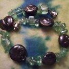 Abalone shell & bead bracelet