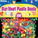 Wholesale BAZIC Star / Heart Plastic Beads