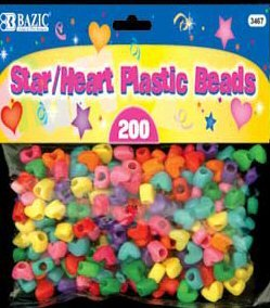 Wholesale BAZIC Star / Heart Plastic Beads