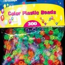 Wholesale BAZIC Multi-Color Plastic Beads (300/Pack)