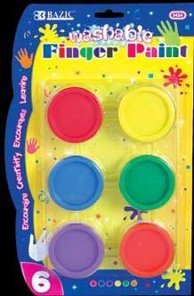 Wholesale BAZIC Assorted Color 40ml Washable Finger Paint