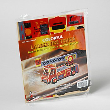 Wholesale Colorful Wood Craft - Fire Trucks