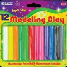 Wholesale BAZIC 12 Asst. Colors 200g / 7 oz. Modeling Clay
