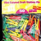 Wholesale BAZIC Mini Colored Clothespins