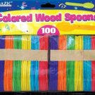 Wholesale BAZIC Colored Wood Spoons (100/Pack)