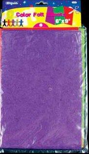 "Wholesale BAZIC 6"" X 9"" Assorted Color Felt Sheets (6/Pack)"
