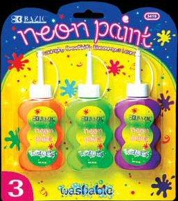 Wholesale BAZIC 40ml Washable Neon Color Paint