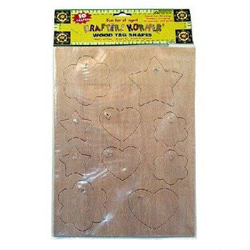 Wholesale Krafters Korner Wood Tag Shapes
