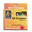 Wholesale 64 Pack of Crayons with Built-In Sharpener