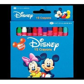 Wholesale DISNEY MICKEY & FRIENDS 12 Color Crayon