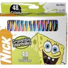 NEW! Wholesale Sponge Bob 48pk Mini Crayon in Window Box