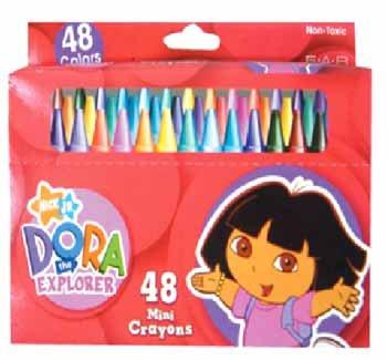NEW! Wholesale Dora 48pk Mini Crayon in Window Box