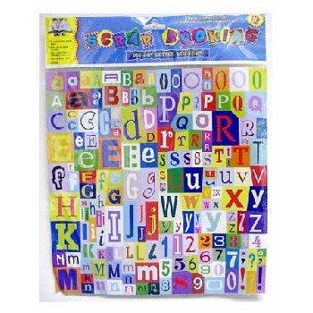 Wholesale Scrapbooking Die Cut Letter Stickers