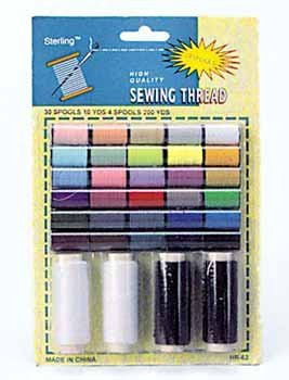 Wholesale 34 piece Thread with with 4 Jumbo Spools