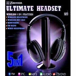 Wholesale Emerson 5 n 1 Wireless Headphone Retail