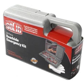 Wholesale Closeouts - Solid 29 Piece Roadside Emergency Kit