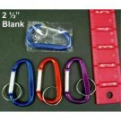 NEW! Wholesale Colorful Blank 2.5 Inch Keychain Carabiners