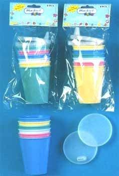 Wholesale 8 Pc Plastic Sipper Set