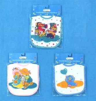 Wholesale Terry Cloth Bib W/Velcro Closure Asst Designs