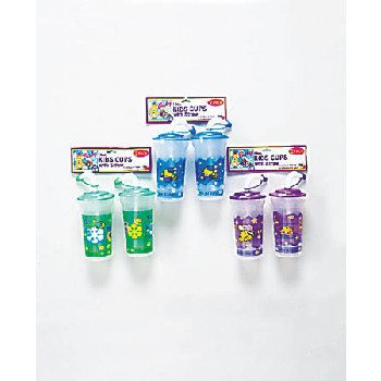 Wholesale 2 Piece Kids Cups with Straws