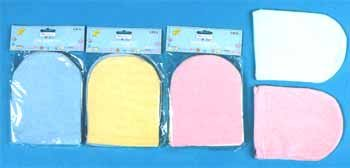 Wholesale 2 Pk Terry Bath Mittens