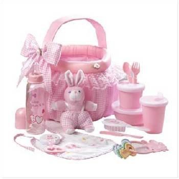 Wholesale Pink Baby Soft Basket Gift Set