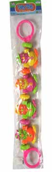 NEW! Wholesale Baby Rattle in PVC 3 Assorted.