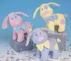 Wholesale Pastel Dogs With Rattle