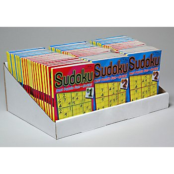 Sudoku Puzzle Books In Counter Display