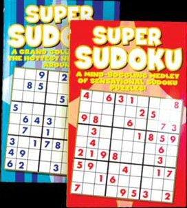 Jumbo 192 Pg. Super Sudoku Puzzles Book