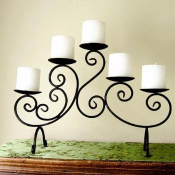 Iron Scroll Candelabra