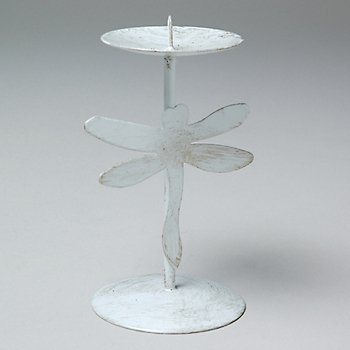 Dragonfly Pillar Candle Holder