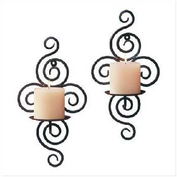 Twisted Wrought Iron Candle Holders