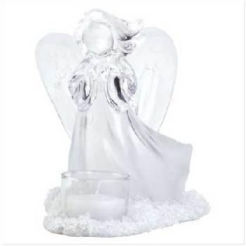 Frosted Angel Tealight Candelholder