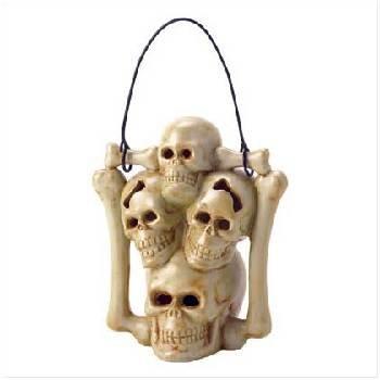 Ceramic Skull Candleholder