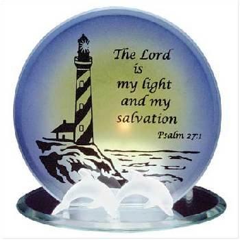 Glass Lighthouse Candleholder