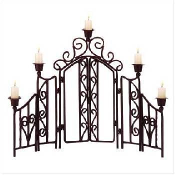 "Wrought Iron Candle ""Fence"""