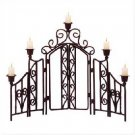 "Wrought Iron Candle ""Fence"""