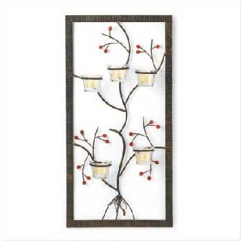 5 Candleholders Wall Adornment