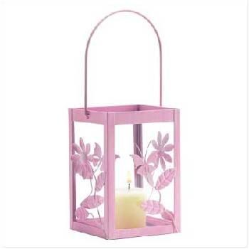 Springtime Pink Candle Lantern