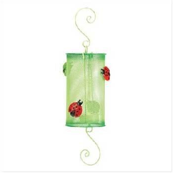 Ladybug Metal Lantern