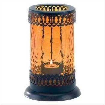 Standing Amber Glass Lantern