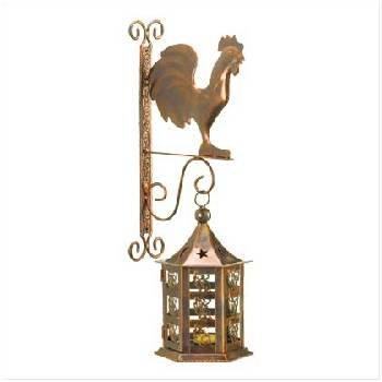Metal Rooster Lantern