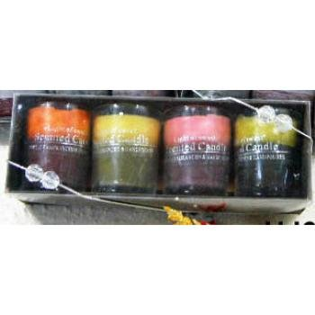 Wholesale Tri Colored Scented Votive Candles with Holders