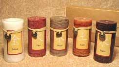 Wholesale 5-Piece Feng Shui Candle Set